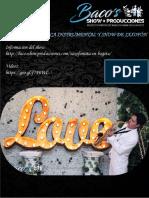 Repertorio Show de Saxofon y Flauta Traversa Mayo de 2018