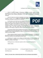Carta de Convocatoria El Zardo