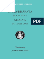 Mahabharata Book Nine Shalya Volume One the Clay Sanskrit Library