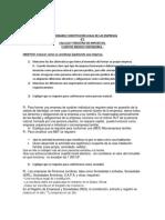 Cuestionario Constitución de Empresas