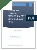 Elementos Constructivos Estructurales y No Estructurales