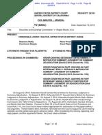 Order Denying Summary Judgment in S.E.C. v. Mozilo