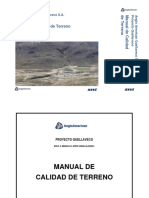 Manual de Calidad de Terreno
