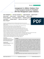 Postoperative Pain Management in Children- Guidance From the Pain Committee of the European Society for Paediatric Anaesthesiology (ESPA Pain Management Ladder Initiative)