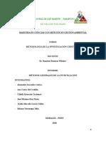 Informe Metodología Generales de La Investigación