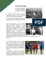 Historia Nacional Del Atletismo