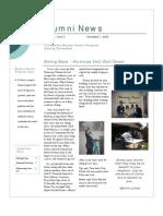 Nov 2006 Alumni Newsletter, Bowery Mission Program