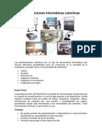 Presentaciones Informáticas Colectivas