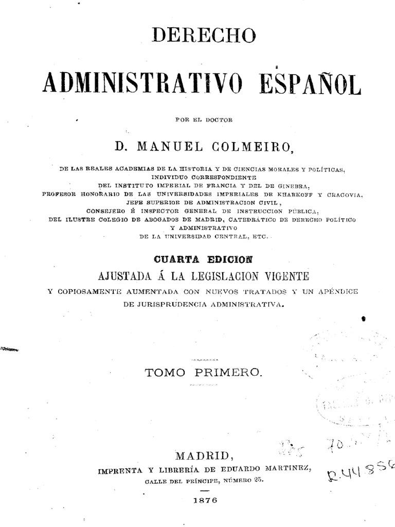 bdd51897bc5a Derecho Administrativo Español Manuel Colmeiro.pdf