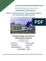 PROYECTO MUNICIPALIDAD HUACULLANI PANEL SOLAR MEMORIA DESCRIPTIVA Y ESPEC. TECNICAS.doc