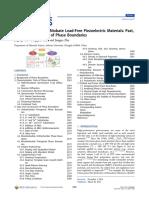 Potassium−Sodium Niobate Lead-Free