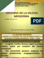 Diaopositivas de Histoeria de La Iglesia Moderna