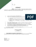 Affidavit of Loss Alcober