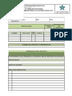F24-9211-08 Formato Unico para la Presentación de Proyectos
