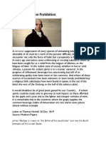 James Madison on Prohibition