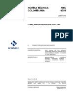 NTC 4354 CONECTORES FLEXOMETALICOS