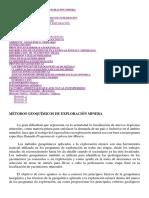 Métodos Geoquímicos de Exploración Minera