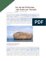 Clasificación de Las Partículas Minerales Del Suelo Por Tamañossss