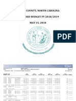 Macon County FY 19 Admin Recommended Budget