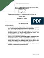 Termodinamika Fisika Statistik Nasional 2017