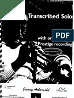Miles Davis - Transcribed Trumpet Solos