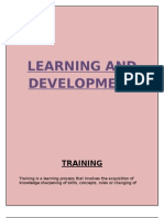 Learning and Develpoment