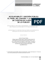 Accountability y Gestión Pública. El Papel Del Control y La Rendición de Cuentas en La Gestión Pública
