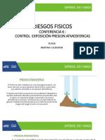 CONFERENCIA 6 RIESGOS FISICOS Control Presion Atmosferica