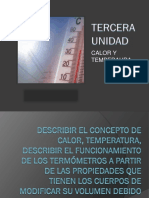 3° Unidad Calor y Temperatura. Equipo 12