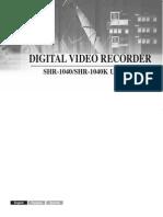 Samsung Shr-1040k Dvr Manual
