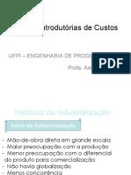 01 - Noções Introdutórias de Custos - Unidade II