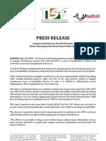 Press Release Langata - TISA