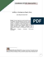 Dialética e Ontologia Em Hegel e Marx
