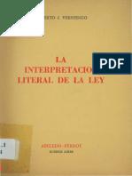 Vernengo-La Interpretacion Literal de La Ley