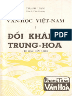 Văn Học Việt Nam Đối Kháng Trung Hoa - Thanh Lãng