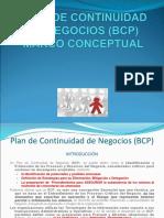 Plan de Continuidad de Negocio (Bcp) Marco Conceptual