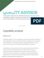 Capabilities Analysis