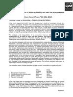 Profitability and Cashflow (2009) Kelly