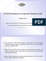 Current Developments in Cooperative Banking in India