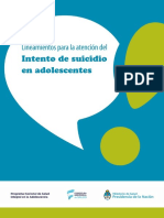 Lineamientos Intento Suicidio 2016