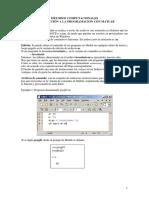 Introducción a La Programacion Con Matlab