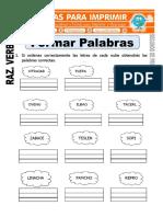Ficha de Formar Palabras Para Segundo de Primaria