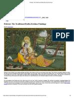 Pichwai_ the Traditional Radha Krishna Paintings