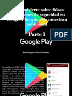 Jesús Augusto Sarcos Romero - ESET Advierte Sobre Falsas Aplicaciones de Seguridad en Google Play Que Sólo Muestran Publicidad, Parte I