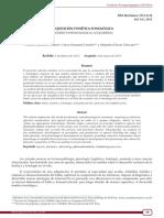 2013 Adquisición Fonética Fonológica