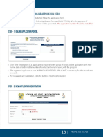 Guidelines for Online Application