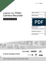 CX360VE Cameră Video Full HD Cu Memorie Flash-Operating Guide