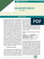 Federal Budget 2018-19