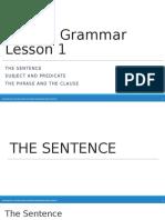 Grammar Lesson 1 the Basics