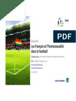 Ipsos pour Foot Ensemble Les Français et l'homosexualité dans le football